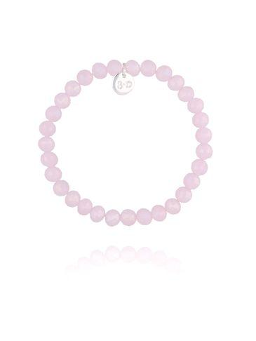 Bransoletka z różowych połyskujących kryształków BBL0204