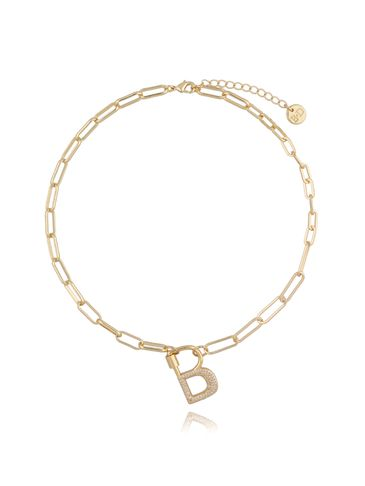 Naszyjnik złoty łańcuch z literą B NSL0011