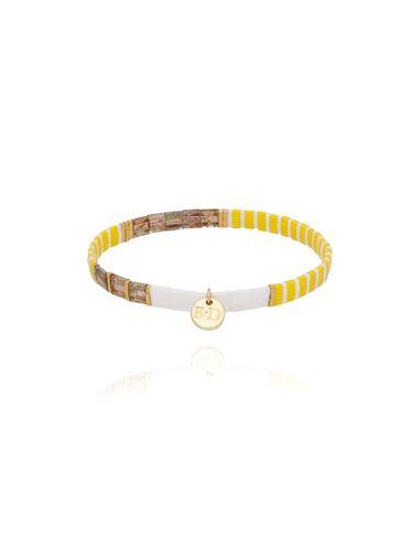 Bransoletka elastyczna żółto złota BLB0053