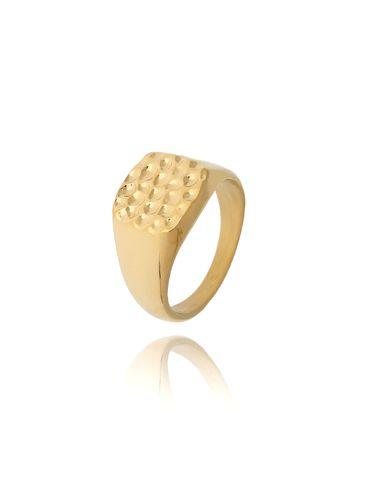 Pierścionek złoty sygnet ze stali szlachetnej PSA0123 Rozmiar 15