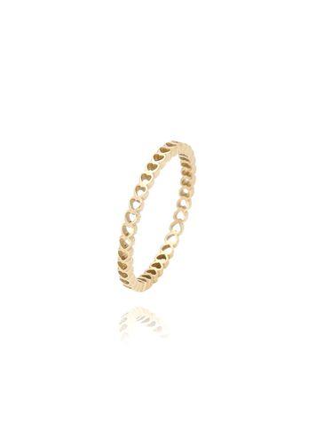 Pierścionek złoty ze stali szlachetnej PSA0053 Rozmiar 17