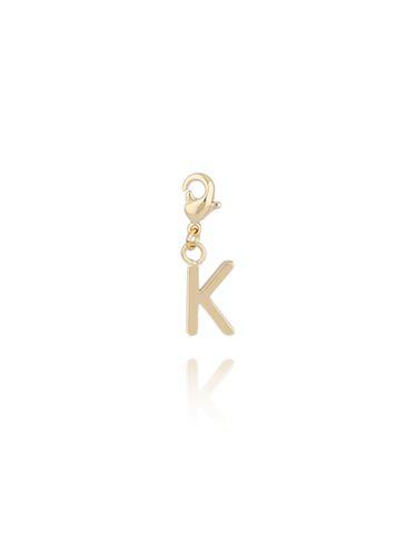 Charms złoty literką K NAT0176