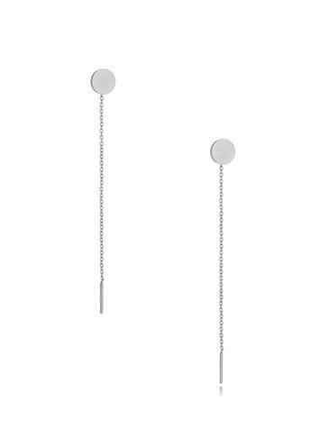 Kolczyki srebrne wiszące Long Circle KSA0304