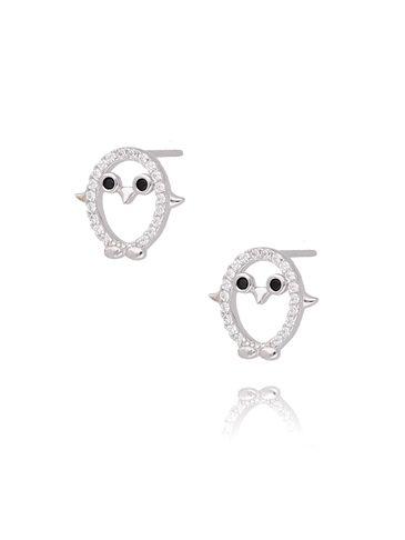Kolczyki srebrne pingwinyKGM0110