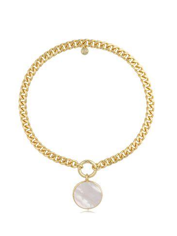 Naszyjnik złoty z perłową zawieszką Bella NTO0011