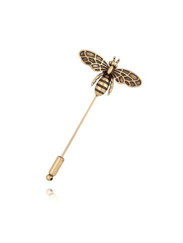 Broszka szpilka stare złoto z owadem BRMI0114