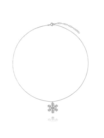 Naszyjnik srebrny śnieżynka NSE0087