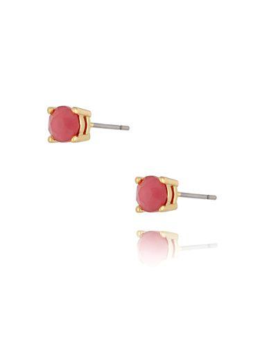 Kolczyki kryształki różowe Dot KRG0719