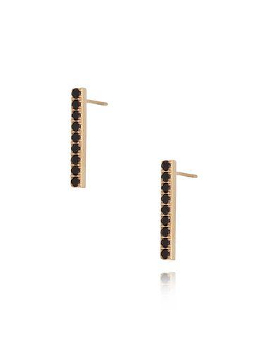 Kolczyki złote z czarnymi cyrkoniami ze stali szlachetnej KSA0129