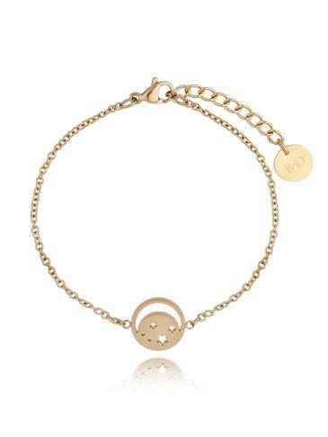 Bransoletka złota ze stali szlachetnej z księżycem BSA0128