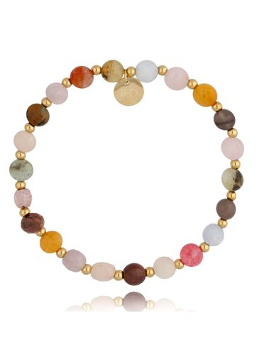 Bransoletka kolorowa z kamieniami naturalnymi i stalą szlachetną NearbyBSC0960
