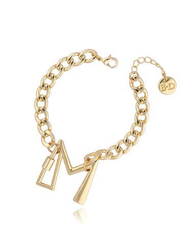 Bransoletka złoty łańcuch z literą M BSL0016