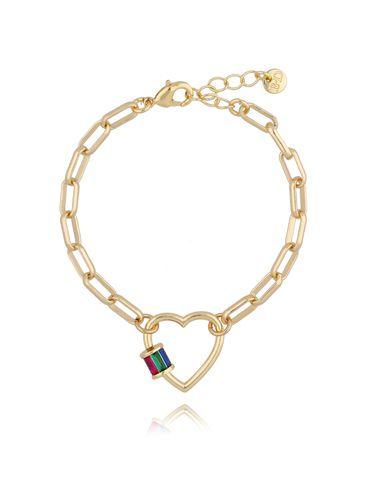 Bransoletka złoty łańcuch z sercem BSL0006