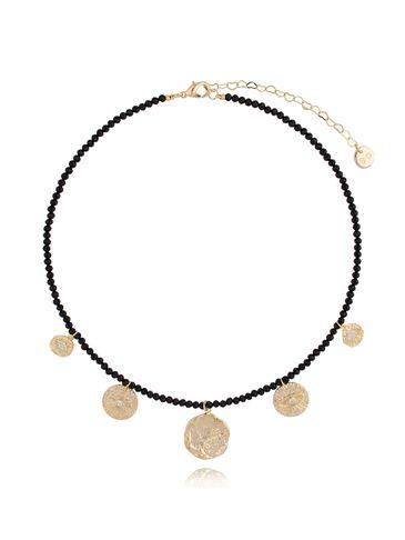 Naszyjnik z czarnymi kryształkami NPA0081