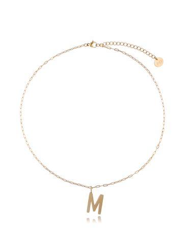 Naszyjnik złoty z literką M NAT0211