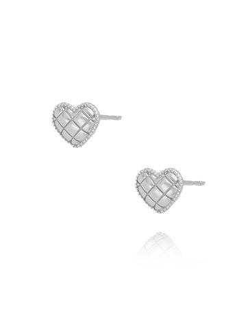 Kolczyki srebrne  serca KGM0094