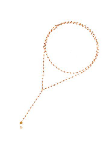 Naszyjnik pomarańczowy z agatami NPA0153