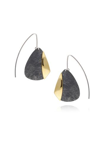 Kolczyki srebrne z tytanu KLE0010
