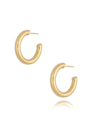 Kolczyki złote koła dmuchane KSA0175 25 mm