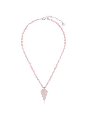 Naszyjnik z kwarcem różowym NPA0274