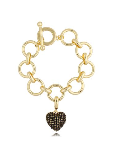 Bransoletka złota z sercem BRG0216
