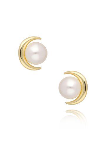Kolczyki z perłami i księżycem KPE0053