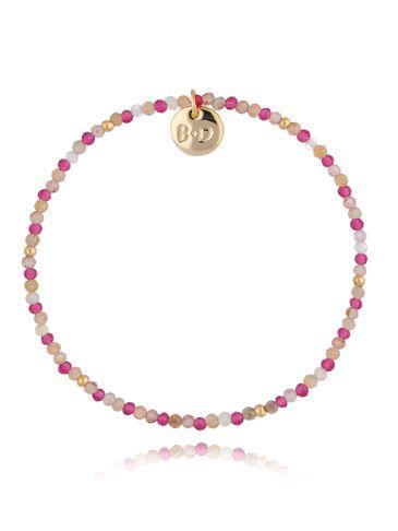 Bransoletka różowa drobna BTW0457