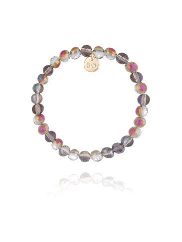 Bransoletka z szarymi połyskującymi  kryształkami BBL0172