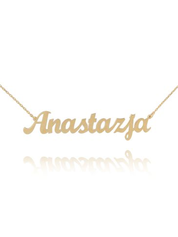 Naszyjnik srebrny pozłacany ANASTAZJA NAT0128