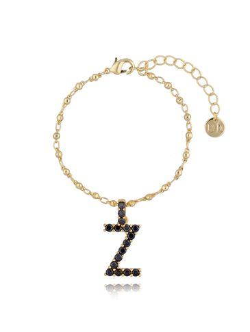 Bransoletka złoty łańcuch z zawieszką litera Z BRG0147