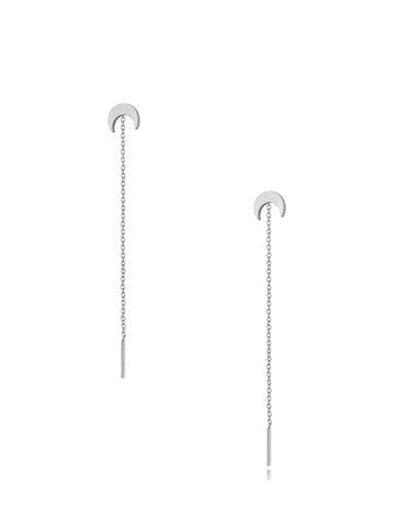 Kolczyki srebrne wiszące Long Moon KSA0306