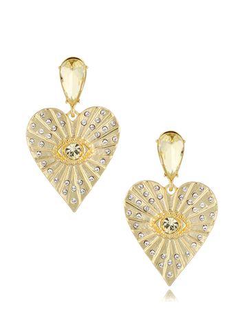 Kolczyki wiszące złote serca Heartbeat KRG0741