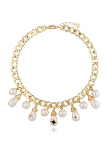 Naszyjnik złoty z perłami NRG0309