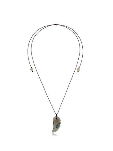Naszyjnik ze skrzydłem z jadeitu Mint Wing NPA0419