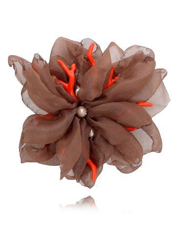 Broszka kwiat  z koralowcem cappuccion BRBL0002