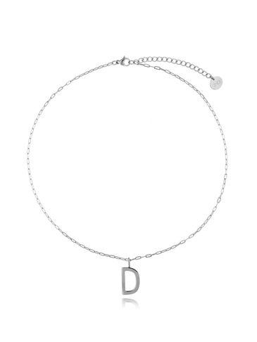 Naszyjnik srebrny z literką D NAT0196
