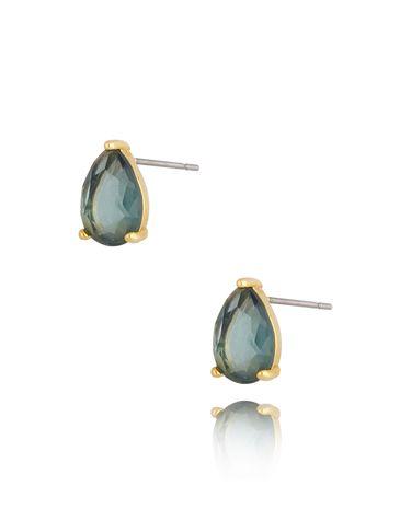Kolczyki kryształowe niebiesko szare łezki Emily KTO0021
