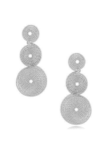 Kolczyki wiszące srebrne Twister KRG0740
