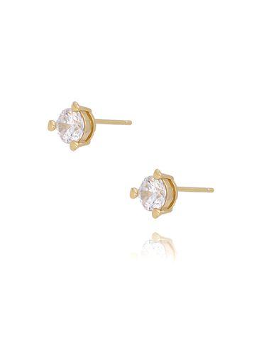Kolczyki   pozłacane z kryształem KFA0018