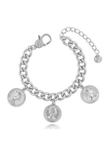 Bransoletka srebrna z monetami BRG0176