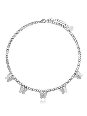 Naszyjnik srebrny z motylkami NSA0142