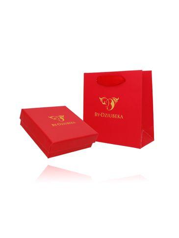 Zestaw prezentowy pudełko i torebka czerwony OPA0188