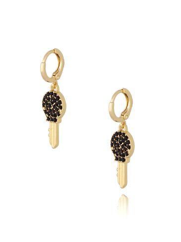 Kolczyki czarne kluczyki KMU0034