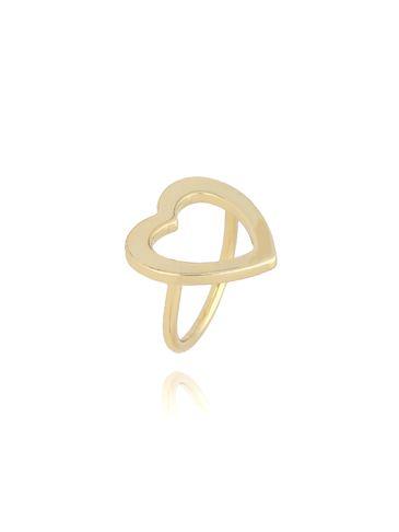 Pierścionek złoty z sercem PRG0071 rozmiar 16