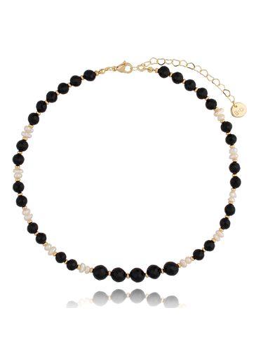Naszyjnik czarno perłowy NPA0337