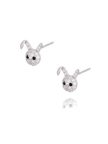 Kolczyki srebrne króliczki KGM0072