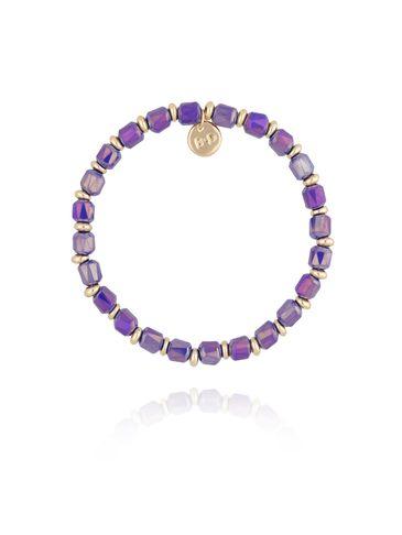 Bransoletka z granatowymi  kryształkami BBL0161