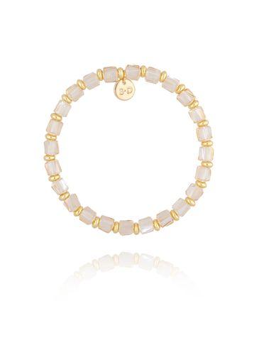 Bransoletka z kremowymi kryształkami BBL0166