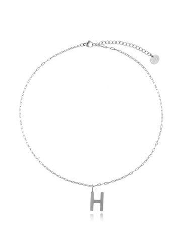 Naszyjnik srebrny z literką H NAT0198