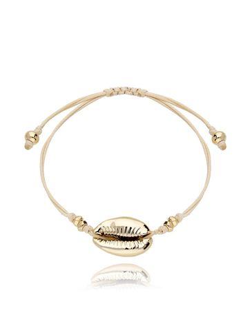 Bransoletka na sznurku ze złotą muszlą BOV0055